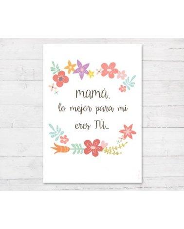 Lamina Mama lo mejor eres tu