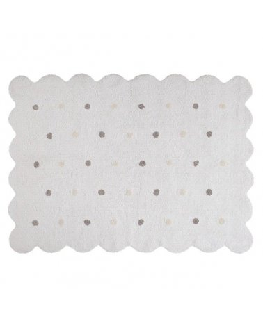 ALFOMBRA GALLETA WHITE 120X160