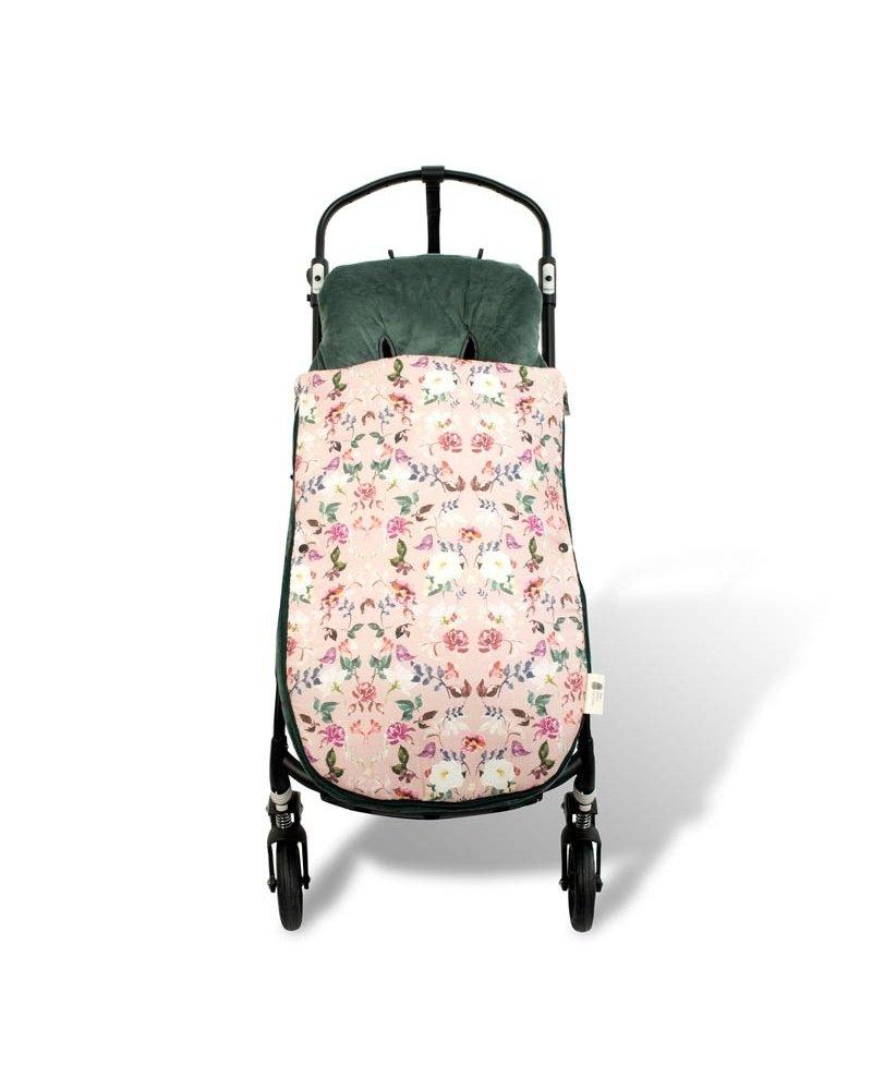 Colchoneta para silla de paseo universal flor rosa Mundi Beb/é. Funda silla de coche