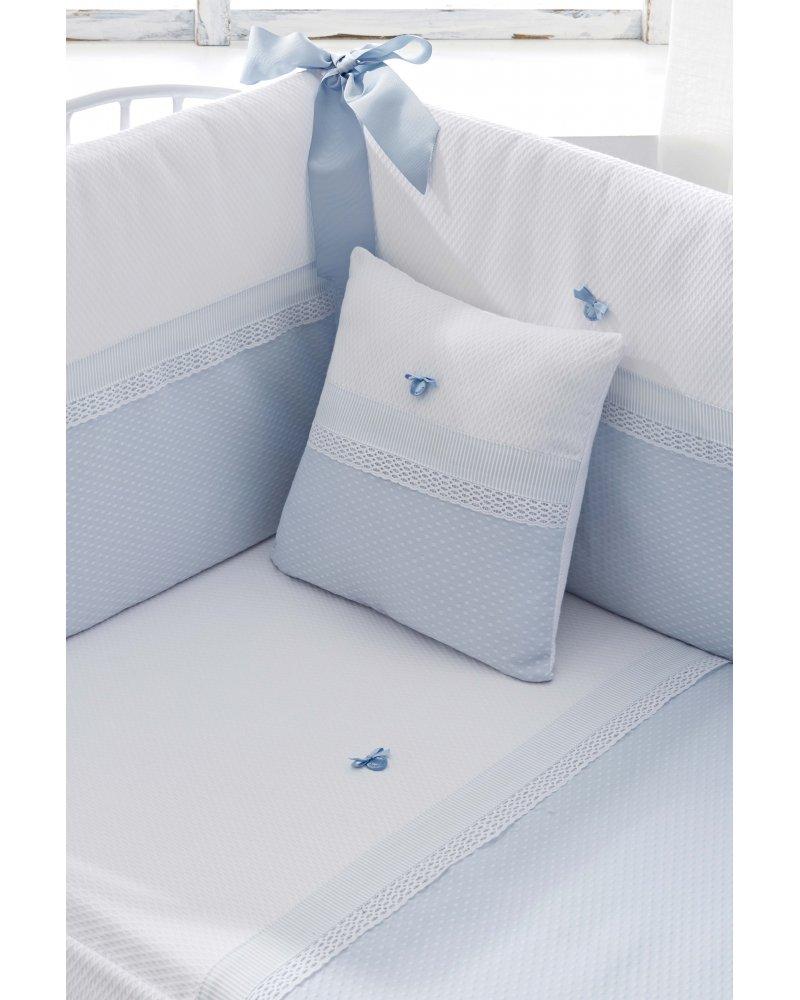 Edred/ón Cuna Color Azul para cunas de 60x120 cm