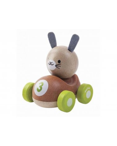 Coche de madera Conejo el...