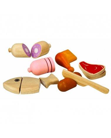 Juguete de madera Carnes y...