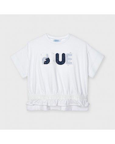 Camiseta m/c aplique blue...
