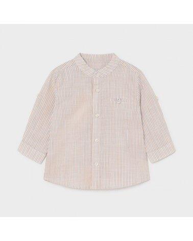Camisa m/l rayas lino c/mao...