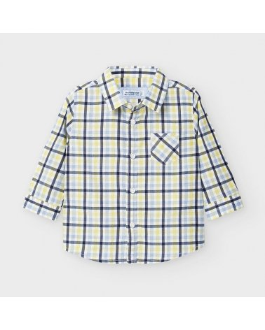 Camisa m/l cuadro popelin Mayoral