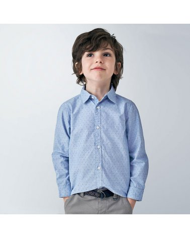 Camisa m/l mini estampado Mayoral
