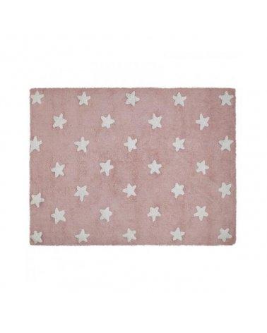 ALFOMBRA ROSA STARS WHITE