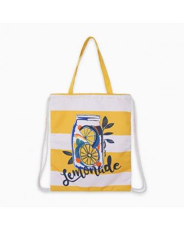 Bolso Loneta Lemonade Blanco Tuc Tuc