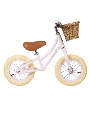 Bicicleta sin pedales First Go! de Banwood Rosa